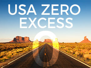 USA car hire has zero excess included